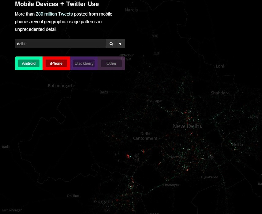 Android Users Beat iPhone in India, Reveals Heatmap