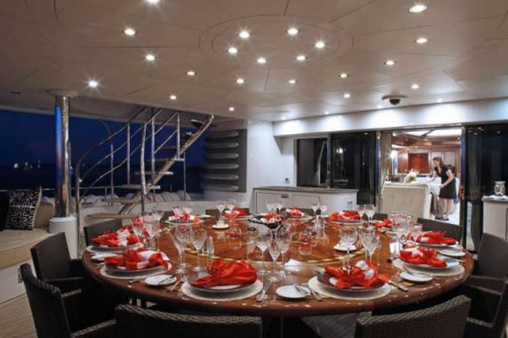 In pictures: What is life like onboard the luxury superyacht which has arrived …