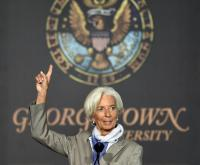 Christine Lagarde sees global economy as brittle, uneven and risky