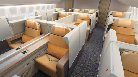 Photos: Inside Air China's Boeing 747-8 first, business class