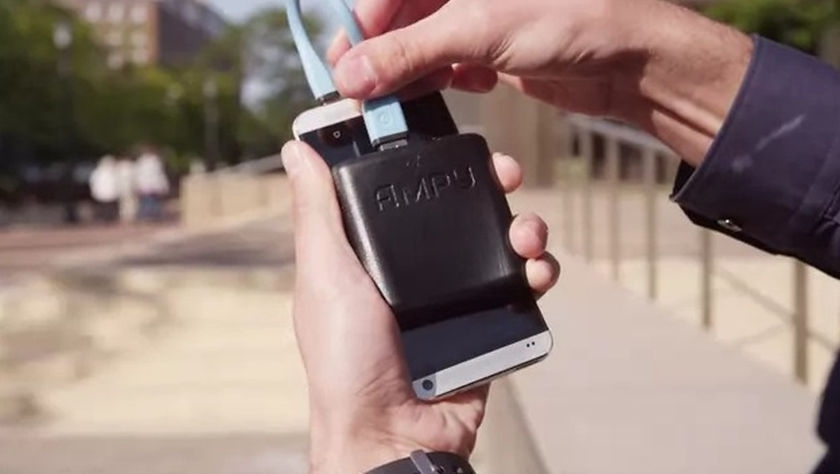 Jog and charge your smartphone with Ampy