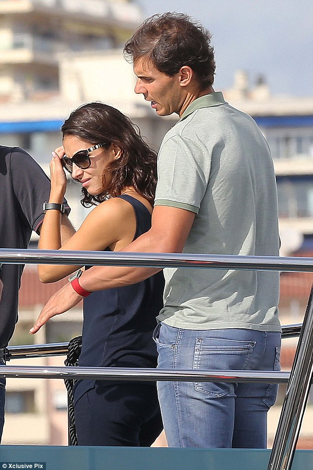 Rafael Nadal and girlfriend Xisca Perello go luxury yacht shopping in Cannes