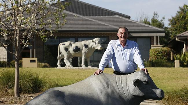 Dairy and land baron Tony Perich outside his office at Oran Park. Picture …