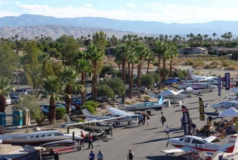 Parade of Planes Opens Flying Aviation Expo in Palm Springs