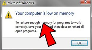 Computer Low on Memory on Windows 10?